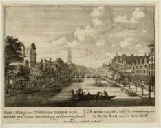 De Keizers Gracht; verby de Schouburg, van de Huyde straat, naar de Wester-kerk