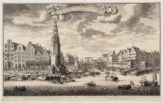 Gezigt van de Haringpakkers Toren, nevens de Haarlemmer Sluis, en Nieuwe Vismark…