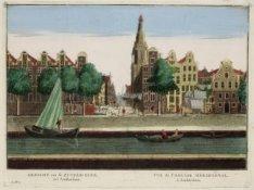 Gezicht van de Zuyder-Kerk, tot Amsterdam / Vue de l'Eglise meridional, à Amster…