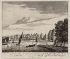 Gezigt van de Herberg het Kalfie, op de hoek van het eerste Loopveld by den Hofs…