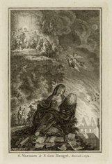 Allegorische voorstelling van de brand van de Schouwburg, Keizersgracht 384 met …