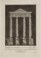 Afbeelding der illuminatie voor het huis van de WelEd: Gestr. Heer J.F. d'Orvill…