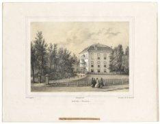 Steendruk van het huis Rose-Villa, Driebergen
