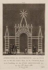 Afbeelding der Illuminatie voor het Huis van de Wel Ed. Gestr. Heer H.W. Cramer …