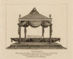 Praaltombe, waar op, in het Koor van de Nieuwe Kerk, te Amsterdam, Vernacht heef…