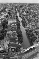 Panorama vanaf de toren van de Westerkerk in zuidelijke richting