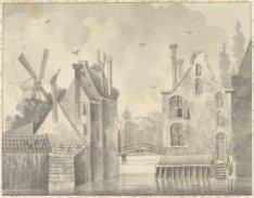 Osjesbrug tusschen Wittenburg en Oostenburg
