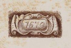 Gevelsteen met jaartal 1670