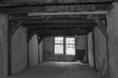 Prins Hendrikkade 35, achterhuis, interieur met houtskelet