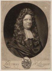 Portret van Ludovicus Wolzogen (1633-1690), hoogleraar in de kerkgeschiedenis en…