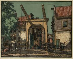 De klapbrug over de Groenburgwal voor de Staalstraat
