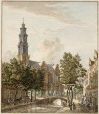 De Rozengracht, gezien naar de Westermarkt en de Westerkerk (Prinsengracht 279-2…