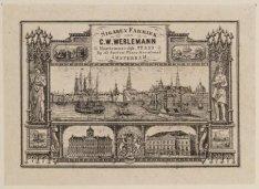Vignet van sigarenfabriek C.W. Werlemann, gevestigd Haarlemmerstraat 22 (voorhee…