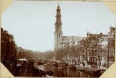 De Prinsengracht, ziende van de Reestraatsluis (sic) naar de Westermarkt