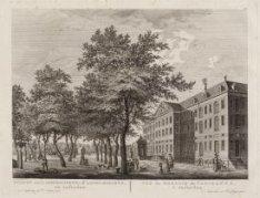 Gezicht van 't Admiraliteits- of Lands-Magazyn, tot Amsterdam