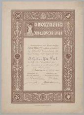 Tweede Getuigschrift, door de Bestuurderen der Maatschappij Felix Meritis, op vo…
