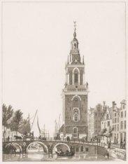 De Jan Rodenpoortstoren met de Torensluis (Brug 9), gezien in noordelijke richti…