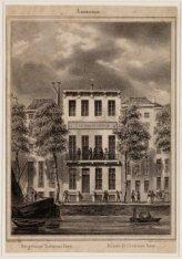 Het gebouw Zeemans-hoop, Buitenkant, na 1879 Prins Hendrikkade 142. Techniek: st…