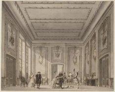 Het decor De Hedendaagse Kamer met een scène uit De Hagenaar te Enkhuizen