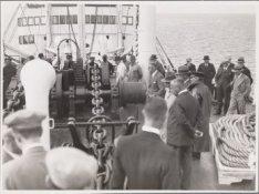 De proefvaart van het vrachtpassagiersschip ms. Tricolor