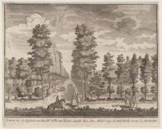 Zorgwyk, de Hofstede van den Hr. Gillis van Hoven ziende door den Middel weg de …