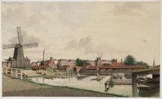 Kwakersdijk kruising Kwakersdwarspad vanaf Kwakersplein gezien in zuidoostelijke…