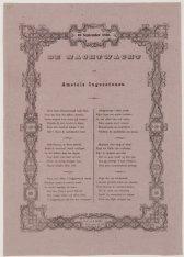 De Nachtwacht aan Amstels Ingezetenen. Kermiswens van 10 September 1866. Boekdru…