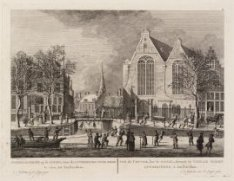 Winter-gezicht op de Cingel, voor de Luthershe Oude Kerk te zien, tot Amsterdam