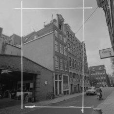 Wolvenstraat 25 (ged.) - 29 met aansluitend rechts de zijgevel van Keizersgracht…