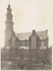 De Westerkerk, Prinsengracht 297, gezien vanaf de Westermarkt