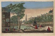 Vue Perspective du Koningsplein au reguliers-tooren, ou tour de la Monney, a Ams…