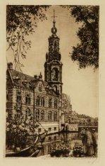 De Munttoren en het Muntgebouw, Muntplein 12, gezien vanaf de Bloemenmarkt aan h…