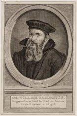 Portret van burgemeester en Raad der stad Amsterdam Mr. Willem Bardesius (1528-1…