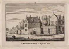 Het Leprozenhuis naar de situatie in 1608. Datering voorstelling: 1544 (c)-1608 …