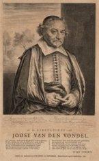 Portret van dichter Joost van den Vondel (1587-1679). Achttiende-eeuwse heruitga…