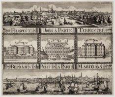 Prospectus Urbis a parte terrestri / Repraesentatio Portus a parte maritima