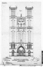 Voorzijde van de Posthoornkerk, Haarlemmerstraat 124