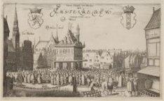 Den Dam en Markt tot Amstelredam omtrent ''t Jaar 1570