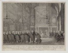 De raadkamer, zo als dezelve zich bevond toen Hunne Doorluchtige en Koningklijke…