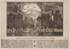 Afbeelding van den brand der Ouden Schouwburg, te Amsterdam