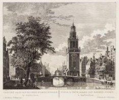 Gezicht van de Jan-Rooden-poorts-tooren, te Amsterdam