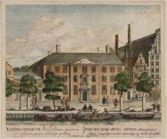 Nieuwe Zyds Huys Sitten Almoesiniers Huys; aangelegt in het jaar 1649, op de Pr:…