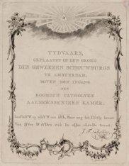 Tydvaars, geplaatst op den grond des geweezen Schouwburgs