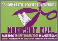 Keer het Tij! Oproep voor een protestbijeenkomst tegen het kabinet