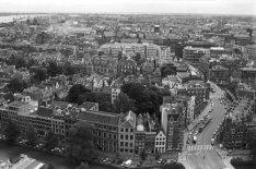 Panorama vanaf de toren van de Westerkerk in oostelijke richting