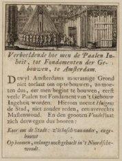 Verbeeldende hoe men de Paalen Inheit, tot Fundamenten der Gebouwen, te Amsterda…