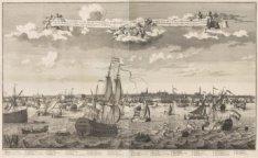 Allerheerlykst gezicht van de Stadt Amsterdam in haar geheele uitgestrektheit la…