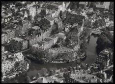 Luchtfoto van Leidseplein en omgeving