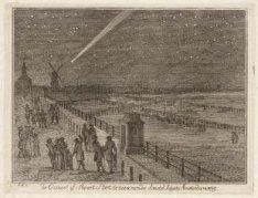 De Komeet of Staart Ster te zien van de Amstel Sluys te Amsterdam 1769