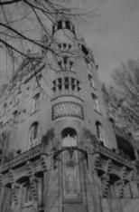 Leidsekade 97 hoek Leidseplein, detail van de gevel van het American Hotel, in 1…